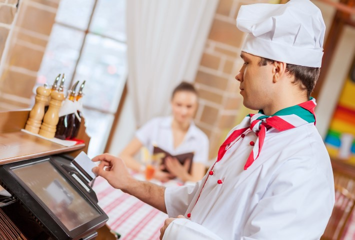 Chef at cafe