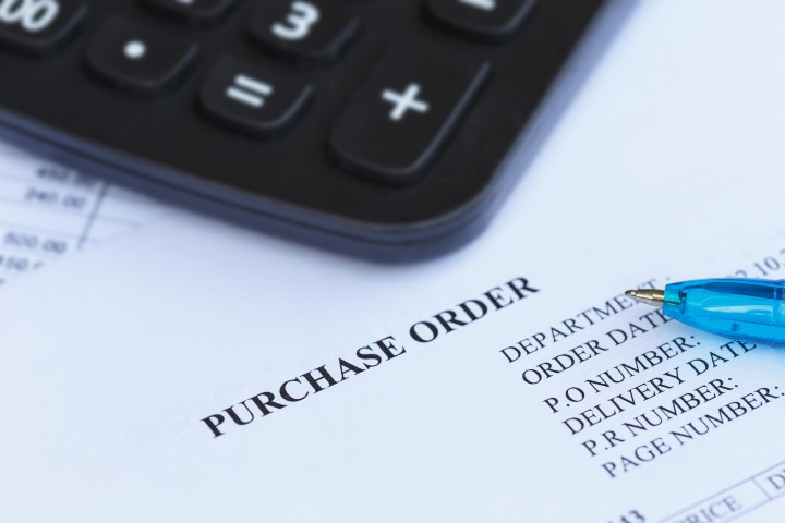 Purchase Order With Pen And Calculator In The Office?